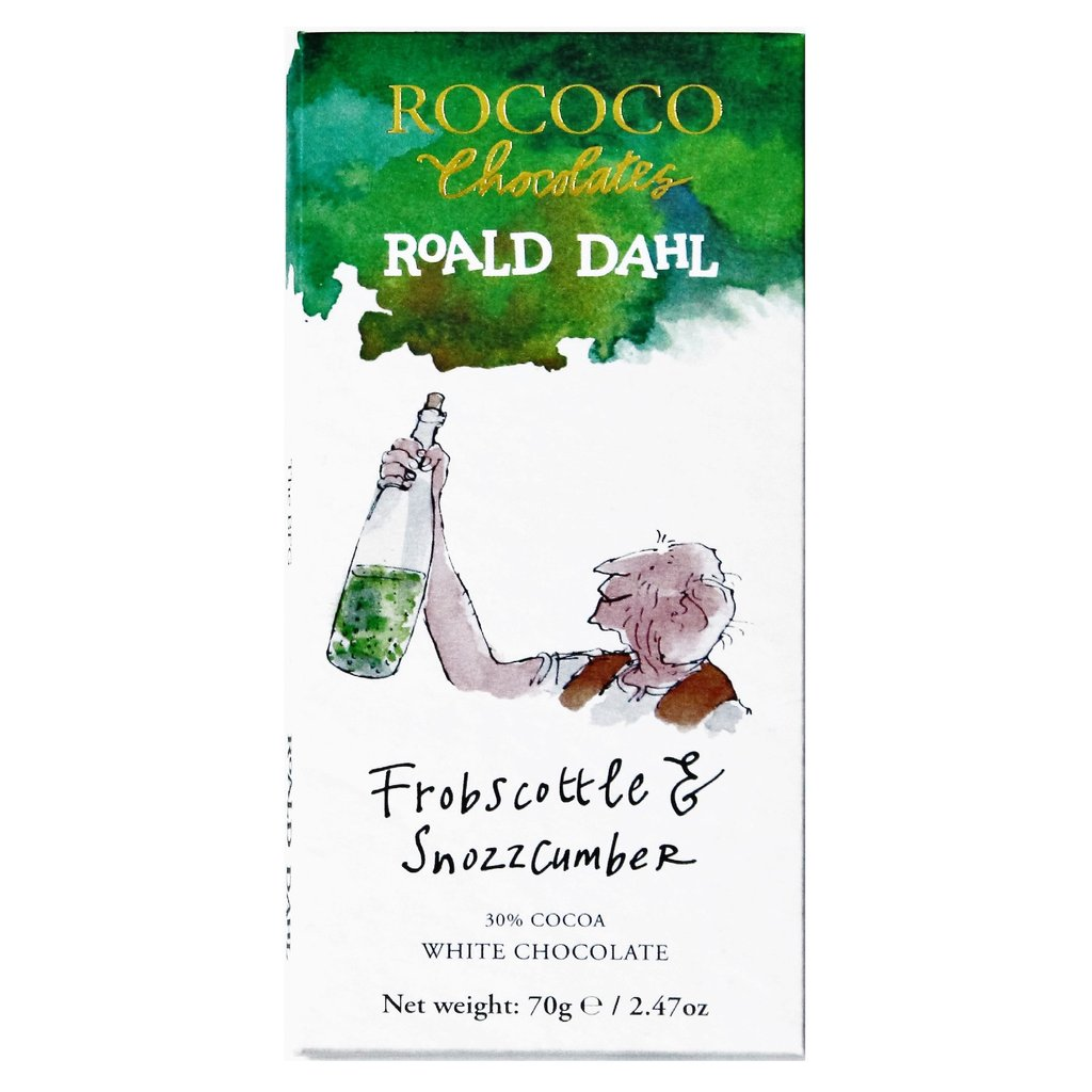 Rococo Frobscottle & Snozzcumber White Chocolate Bar