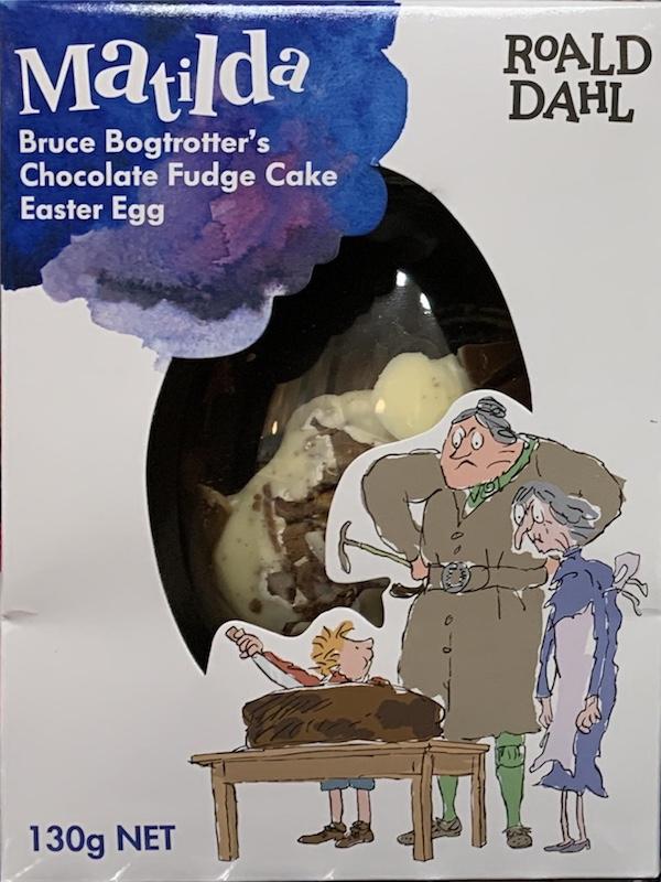 Bruce Bogtrotter's Chocolate Fudge Cake Easter Egg